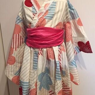 夏本番!簡単着付けのワンピース浴衣(size110~120)