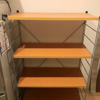 ラック / シェルフ 木製 棚板 4段