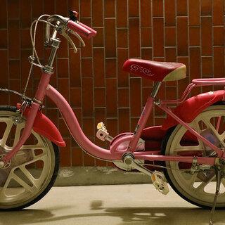 女の子用自転車18インチ シンデレラ ブリジストン BAAマーク