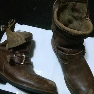 革製ブーツ 茶色