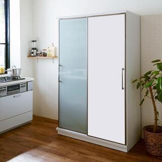 新品 幅122㎝ ガラス戸と板戸の引戸ダイニングボード 日本製