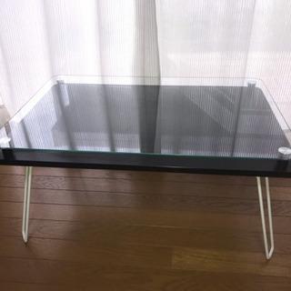 美品 セレクトショップ ガラステーブル