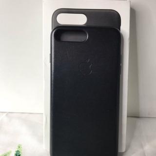 iPhone 8 Plus用 ブラック純正レザーケース