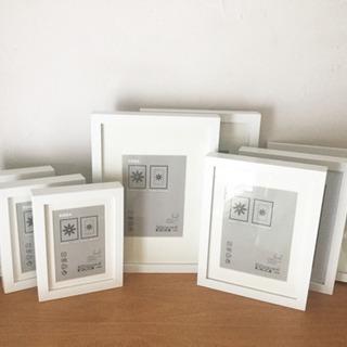 IKEA・RIBBA白フォトフレーム・写真立てセット