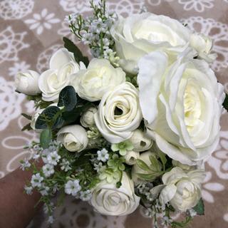【お譲りします】手作り造花の花束/ウェディングフォト用