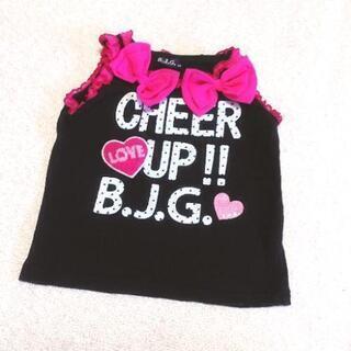 B.J.G 黒×ピンク タンクトップ