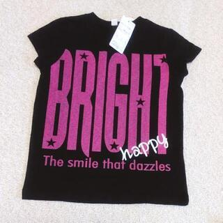 新品 黒ピンクロゴ 半袖Tシャツ