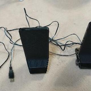 ステレオミニプラグ USB給電スピーカー