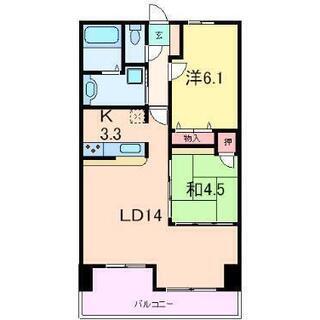 神戸三宮駅徒歩7分、2LDKのうち一部屋