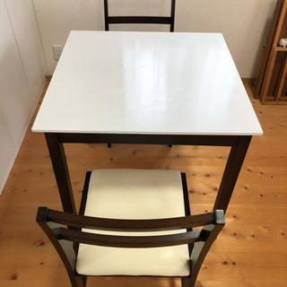 【北欧タイプ】ダイニングテーブル、イス 3点セット
