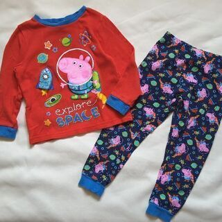 Peppa pig ペッパピッグ パジャマ 3-4Y 100-110