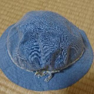子供 帽子ブルー 48センチ