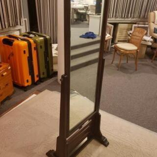 鏡 姿見 木枠