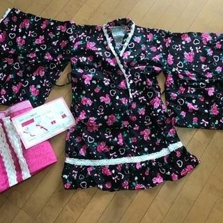☆浴衣ドレス☆薔薇柄☆サイズ150