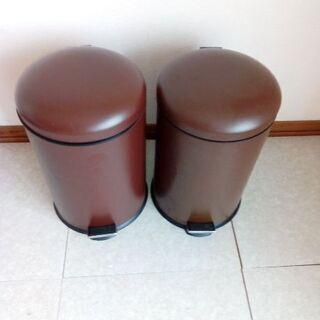 ペダル式ゴミ箱 二個セット