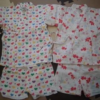 女の子 浴衣(95センチ) 2組セット (投稿管理番号:79)