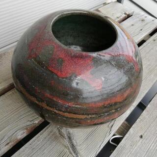 陶器 赤深緑