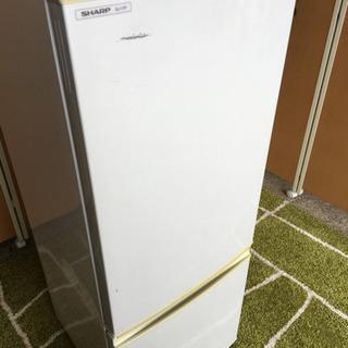 ☆シャープ☆2ドア冷蔵庫☆大容量167L☆キズあり☆2008年製