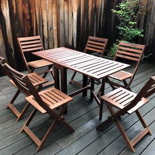 アウトドア テーブル チェアー 7点セット
