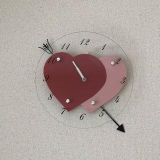 ニトリ☆ダブルハートの掛け時計♡