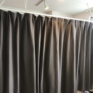 間仕切りカーテン&カーテン吊りレールセット