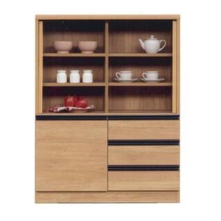 新品 幅90cmのミニ食器棚 日本製