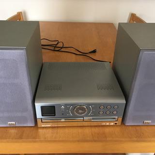 SHARP  CD MD ラジオ コンポ
