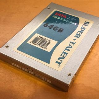 SUPER TALENT東芝製SSD 2.5inch 64GB
