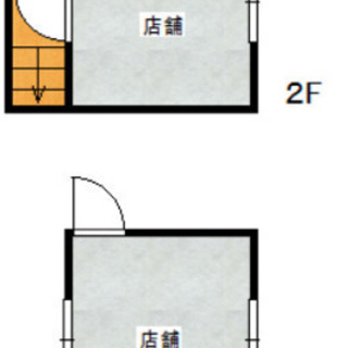 駐車場2台付き♫メゾネットタイプ事務所店舗♫