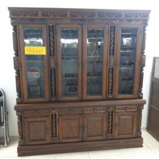 【リブラ店】値下げ!自力、お持ち帰り価格 飾り彫 食器棚