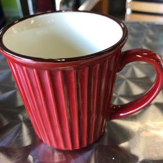 赤いマグカップ2個セット