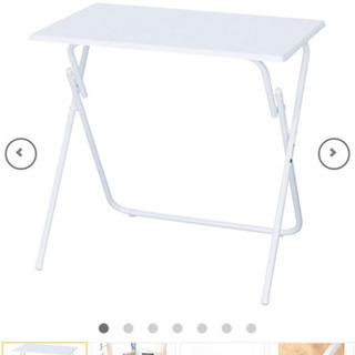 ニトリ 折り畳みテーブル&折り畳み椅子×2脚   3点セット