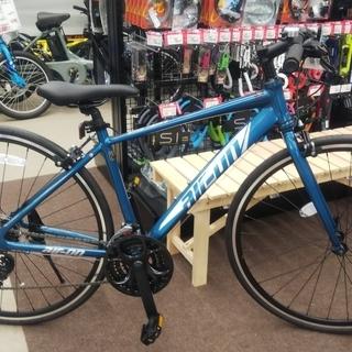 コスパ自慢 軽量クロスバイク 変速3x7 ブルー