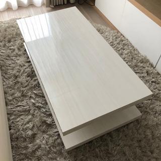 美品☆白のローテーブル