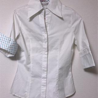 水玉ワイシャツ  LLサイズ 最終価格