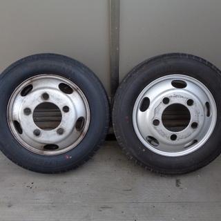 トラックタイヤ 205/65R16 ヨコハマ 2本セット ホイール付