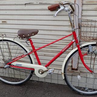 札幌市 ママチャリ 3段切換え自転車 27インチ 現状渡し 中古