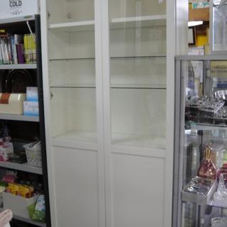 2ドア収納収納ショーケース ディスプレイ什器 陳列棚