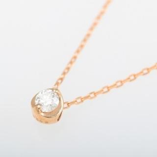 K18PG ダイヤモンド プチネックレス 品番6-119