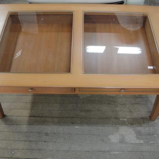 ガラス コレクションテーブル 引出し付き センターテーブル ガラス...