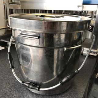食缶 二重ステンレス☆74973 ハンドル付