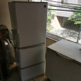 あげます、3ドア両開き冷蔵庫SHARP2012