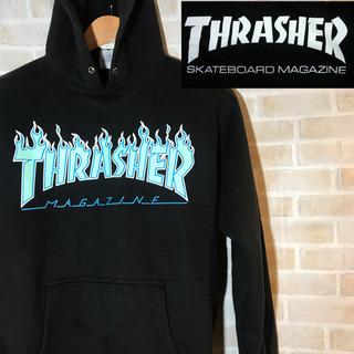 【90s】古着 THRASHER スラッシャーパーカー ビッグロゴ