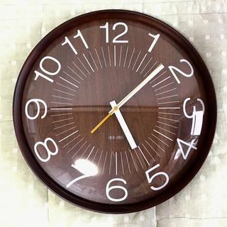 IDEA LABEL 壁掛け時計 ウッドガラスクロック
