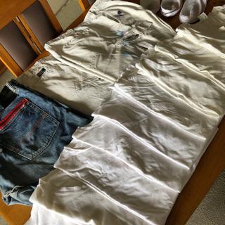 メンズデニム、作業ズボン、Tシャツ、靴下
