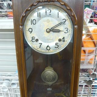昭和レトロ調 振り子時計 セイコー クオーツ  柱時計 札幌 西岡