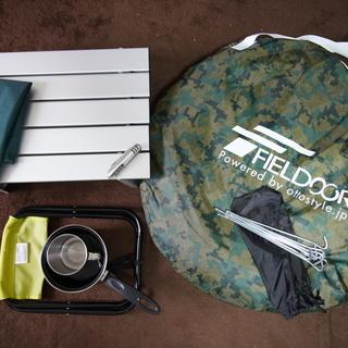テント+キャンプ用品