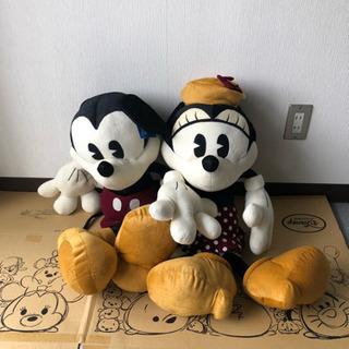 ミッキー&ミニーのBIGぬいぐるみ - おもちゃ