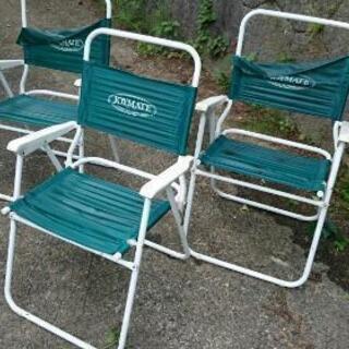 アウトドア 折り畳み椅子 合計三脚