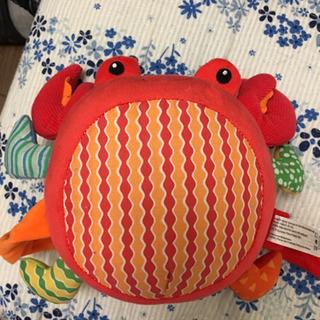 【ほぼ新品・新生児にお勧め】ガラガラ蟹さん ぬいぐるみ